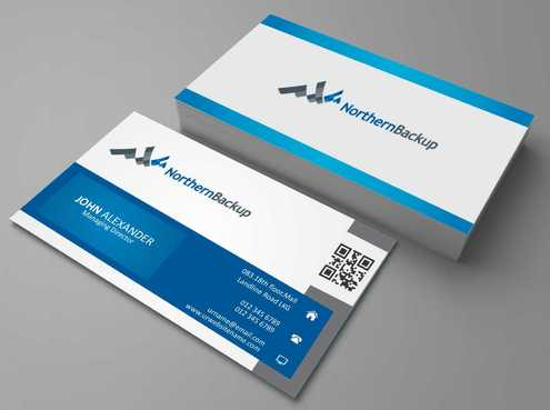 Northern Backup Inc. Business Cards and Stationery  Draft # 83 by DesignBlast