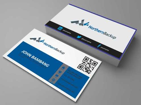 Northern Backup Inc. Business Cards and Stationery  Draft # 90 by DesignBlast