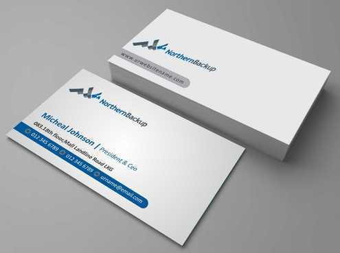 Northern Backup Inc. Business Cards and Stationery  Draft # 96 by DesignBlast