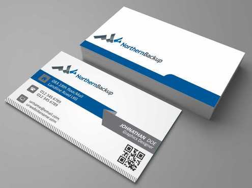 Northern Backup Inc. Business Cards and Stationery  Draft # 97 by DesignBlast