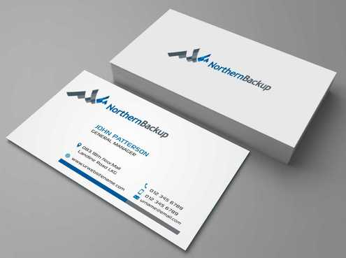 Northern Backup Inc. Business Cards and Stationery  Draft # 98 by DesignBlast