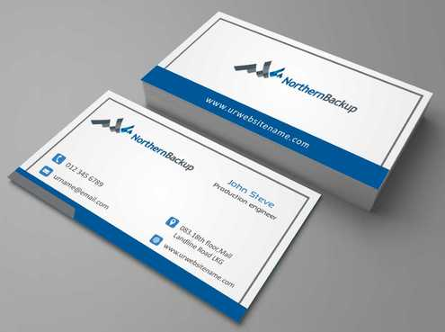 Northern Backup Inc. Business Cards and Stationery  Draft # 99 by DesignBlast