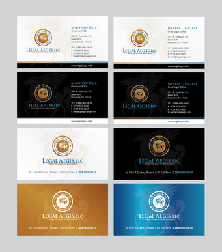 Business Card for Legal Aegis Business Cards and Stationery  Draft # 354 by Achiver