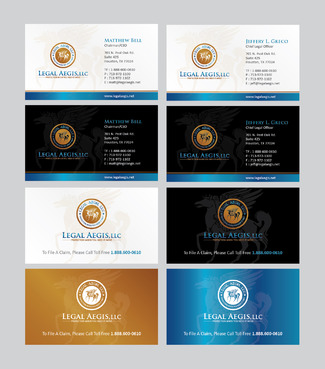 Business Card for Legal Aegis Business Cards and Stationery  Draft # 355 by Achiver