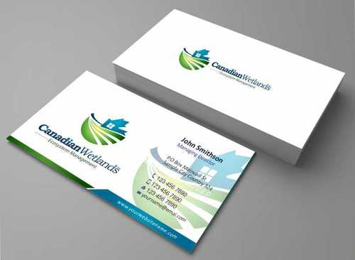 Canadian Wetlands Inc  eco system management Business Cards and Stationery  Draft # 117 by Dawson