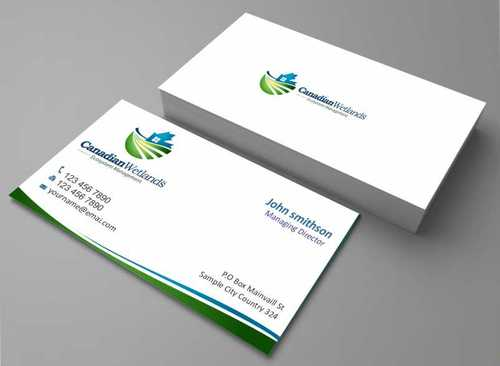 Canadian Wetlands Inc  eco system management Business Cards and Stationery  Draft # 119 by Dawson