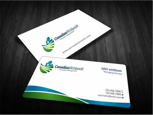 Canadian Wetlands Inc  eco system management Business Cards and Stationery  Draft # 120 by Dawson