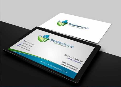 Canadian Wetlands Inc  eco system management Business Cards and Stationery  Draft # 122 by Dawson