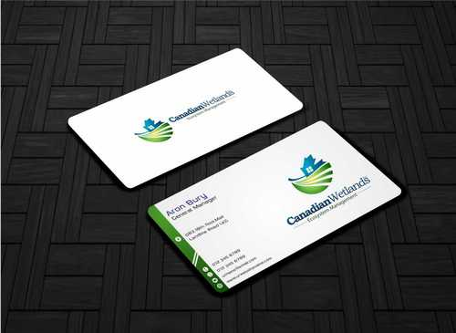 Canadian Wetlands Inc  eco system management Business Cards and Stationery  Draft # 123 by Dawson