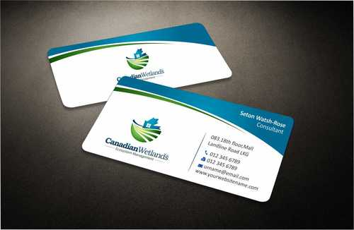 Canadian Wetlands Inc  eco system management Business Cards and Stationery  Draft # 126 by Dawson
