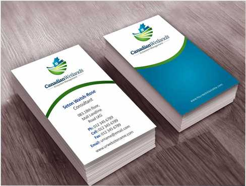 Canadian Wetlands Inc  eco system management Business Cards and Stationery  Draft # 127 by Dawson