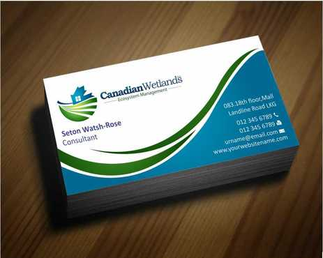 Canadian Wetlands Inc  eco system management Business Cards and Stationery  Draft # 131 by Dawson