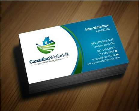 Canadian Wetlands Inc  eco system management Business Cards and Stationery  Draft # 132 by Dawson