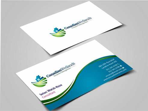 Canadian Wetlands Inc  eco system management Business Cards and Stationery  Draft # 133 by Dawson