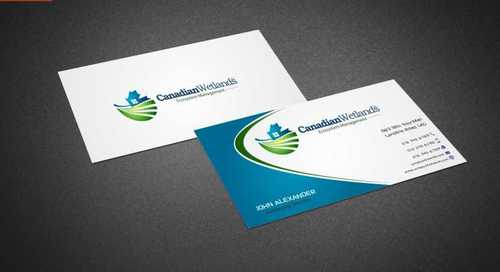 Canadian Wetlands Inc  eco system management Business Cards and Stationery  Draft # 139 by Dawson