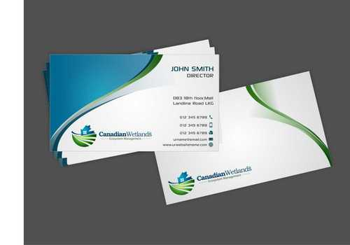 Canadian Wetlands Inc  eco system management Business Cards and Stationery  Draft # 143 by Dawson