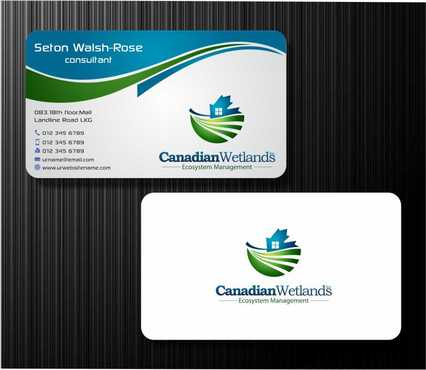Canadian Wetlands Inc  eco system management Business Cards and Stationery  Draft # 144 by Dawson
