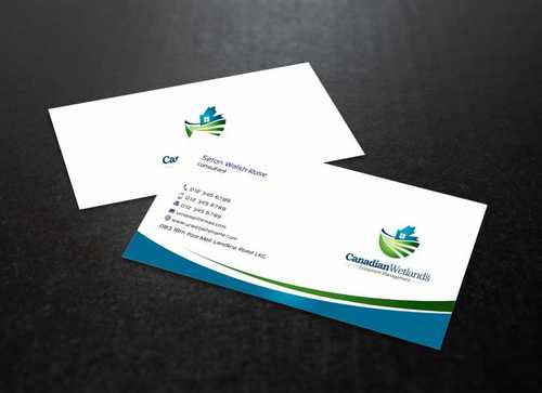 Canadian Wetlands Inc  eco system management Business Cards and Stationery  Draft # 145 by Dawson
