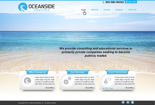 Oceanside Equities Inc.  Complete Web Design Solution  Draft # 2 by makeglow