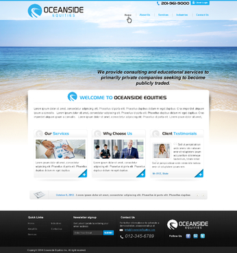 Oceanside Equities Inc.  Complete Web Design Solution  Draft # 4 by makeglow