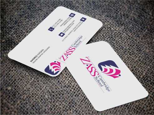 St. ZASS Cambridge School Business Cards and Stationery  Draft # 134 by DesignBlast