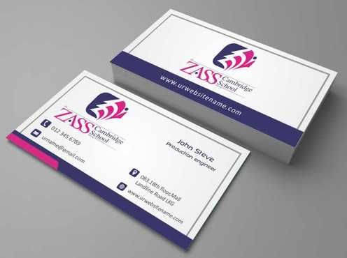 St. ZASS Cambridge School Business Cards and Stationery  Draft # 142 by DesignBlast
