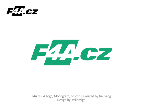 F4A.cz A Logo, Monogram, or Icon  Draft # 2 by validesign