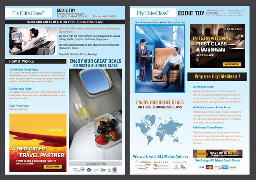 flyer designs need to be created in ai vector format Marketing collateral  Draft # 6 by destudio