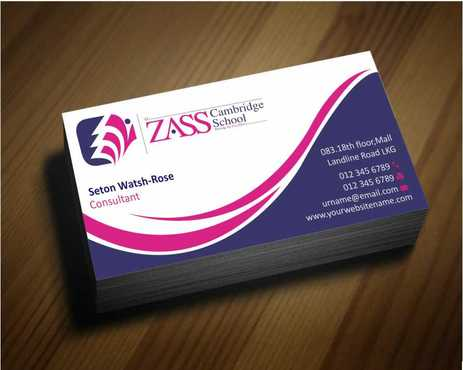 St. ZASS Cambridge School Business Cards and Stationery  Draft # 158 by Dawson