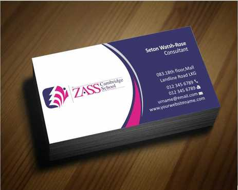 St. ZASS Cambridge School Business Cards and Stationery  Draft # 159 by Dawson