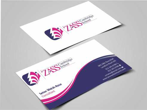 St. ZASS Cambridge School Business Cards and Stationery  Draft # 161 by Dawson