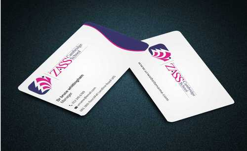 St. ZASS Cambridge School Business Cards and Stationery  Draft # 163 by Dawson