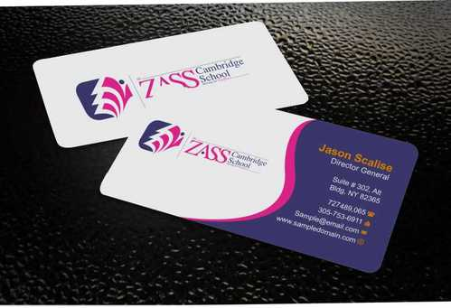 St. ZASS Cambridge School Business Cards and Stationery  Draft # 164 by Dawson
