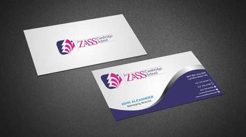 St. ZASS Cambridge School Business Cards and Stationery  Draft # 165 by Dawson