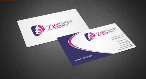 St. ZASS Cambridge School Business Cards and Stationery  Draft # 166 by Dawson