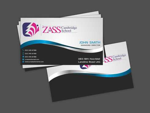 St. ZASS Cambridge School Business Cards and Stationery  Draft # 168 by Dawson