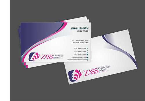 St. ZASS Cambridge School Business Cards and Stationery  Draft # 169 by Dawson