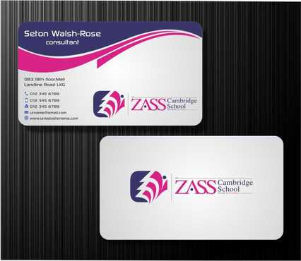 St. ZASS Cambridge School Business Cards and Stationery  Draft # 170 by Dawson