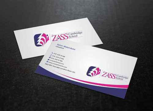 St. ZASS Cambridge School Business Cards and Stationery  Draft # 171 by Dawson