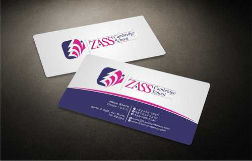 St. ZASS Cambridge School Business Cards and Stationery  Draft # 172 by Dawson