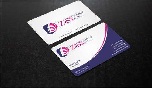 St. ZASS Cambridge School Business Cards and Stationery  Draft # 173 by Dawson