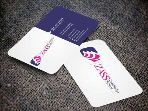 St. ZASS Cambridge School Business Cards and Stationery  Draft # 175 by Dawson