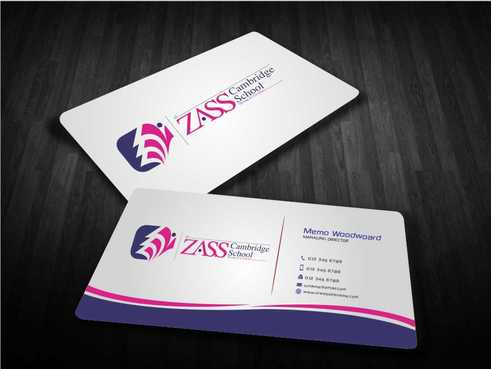 St. ZASS Cambridge School Business Cards and Stationery  Draft # 176 by Dawson