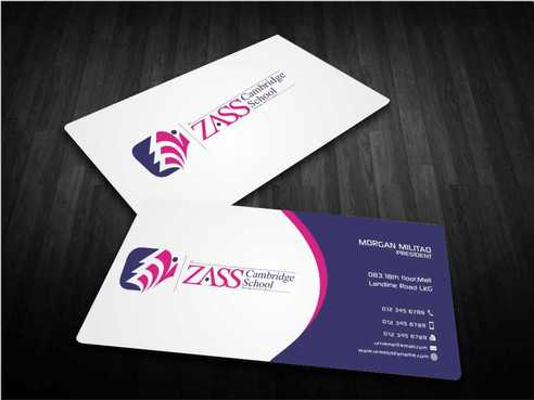 St. ZASS Cambridge School Business Cards and Stationery  Draft # 178 by Dawson
