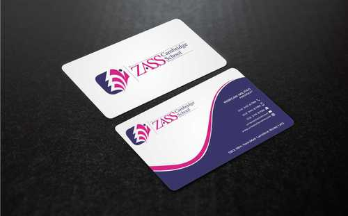 St. ZASS Cambridge School Business Cards and Stationery  Draft # 179 by Dawson