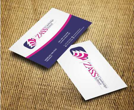 St. ZASS Cambridge School Business Cards and Stationery  Draft # 180 by Dawson