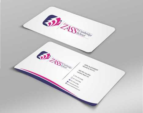 St. ZASS Cambridge School Business Cards and Stationery  Draft # 183 by Dawson