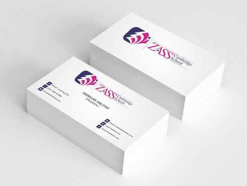 St. ZASS Cambridge School Business Cards and Stationery  Draft # 184 by Dawson