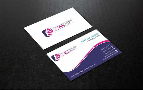 St. ZASS Cambridge School Business Cards and Stationery  Draft # 186 by Dawson