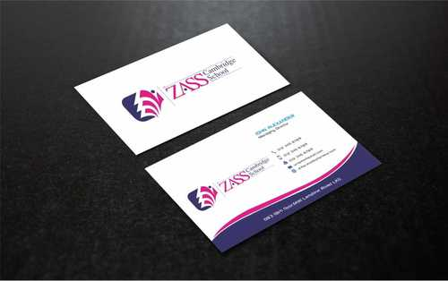 St. ZASS Cambridge School Business Cards and Stationery  Draft # 187 by Dawson